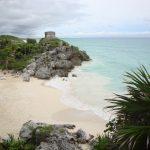 playas cristalinas en las ruinas arqueológicas de Tulum