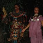 representación teatral de los ancestros mayas
